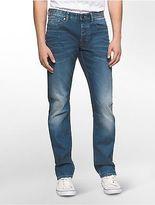 Calvin Klein Mens Slim Leg Light Faded Jeans
