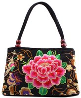 Hengfey Womens Handbag Embroidery Canvas Vintage Chinese Style
