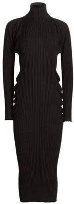 Bottega Veneta Seamless Merino Ribbed Turtleneck Dress