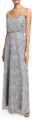 WAYF The Savannah V-Neck Blouson Cami Gown