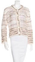 Marc Jacobs Open Knit Striped Cardigan