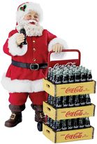 Kurt Adler Coca-Cola Delivery Cart Santa