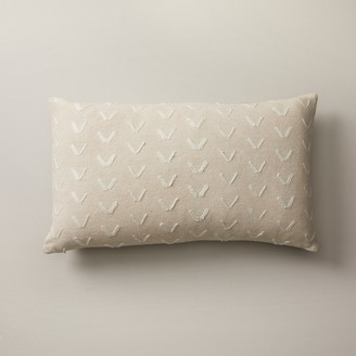 "Indigo Spur Pattern Almond Pillow Cover 12"" X 21"""