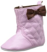 Luvable Friends Girl's Quilted Zip Boot (Infant)