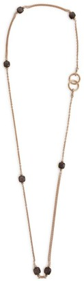 Pomellato Rose Gold And Obsidian Nudo Necklace