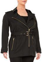 MICHAEL Michael Kors Plus Zip Front Trench Coat