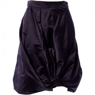 Prada Navy Silk Skirts
