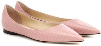 Jimmy Choo Love Flat leather ballet flats