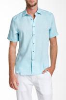 Report Collection Short Sleeve Linen Regular Fit Sport Shirt
