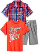 Nannette 3-Pc. Shirt, T-Shirt & Shorts Set, Toddler & Little Boys (2T-7)