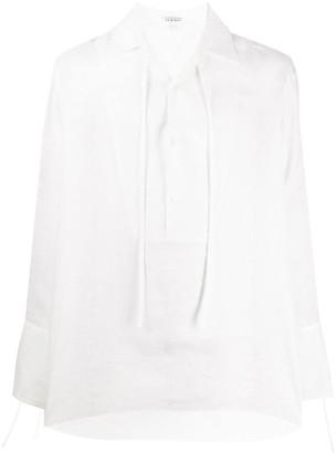 Loewe Tie-Neck Linen Shirt