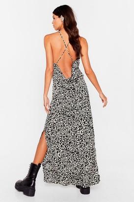 Nasty Gal Womens Into the Wild Animal Maxi Dress - Black - 4