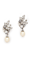 Ben-Amun Crystal Imitation Pearl Earrings