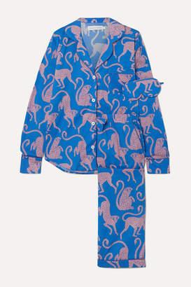 Desmond & Dempsey Soleia Printed Cotton-voile Pajama Set - Navy