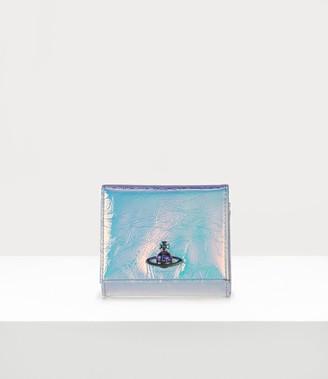 Vivienne Westwood Archive Orb Flap Coin Wallet Plain Blue