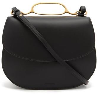 Jil Sander Hardware-trimmed Leather Cross-body Bag - Womens - Black