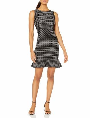 Max Studio Women's Sleeveless Printed Sweater Dress