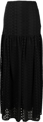 FEDERICA TOSI Broderie Anglaise Maxi Skirt