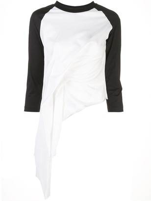Marques Almeida Draped Raglan-Sleeve Top