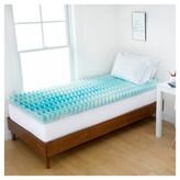 """Authentic Comfort 1.5"""" Blue Wave Memory Foam Dorm Mattress Topper - Authentic Comfort®"""