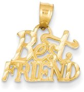jewelryPot 14k Yellow Gold Best Friend Pendant