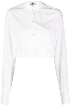 Dries Van Noten Pre-Owned 1990s Cropped Button-Up Shirt