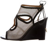 Aquazzura Mesh Caged Wedges