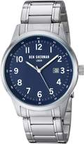 Ben Sherman Men's Quartz Metal and Stainless Steel Casual Watch, Color:Silver-Toned (Model: WB065USM)