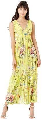 Fuzzi Maxi Dress (Citron) Women's Dress