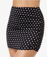 Lauren Ralph Lauren Polka-Dot High-Waist Swim Skirt