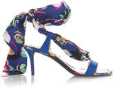 Emilio Pucci Silk Tie Heeled Sandal