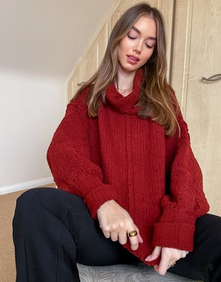 Free People Be Yours jumper in sweet red