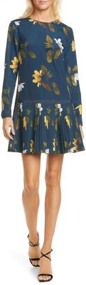 Ted Baker Danees Savanna Floral Long Sleeve Minidress