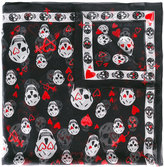 Alexander McQueen skull and heart print scarf - women - Silk/Cotton - One Size