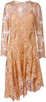 Zimmermann asymmetric lace dress - women - Cotton/Polyamide - 1