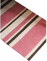 Just Buggy Rug - Pink Stripe Hooked Wool
