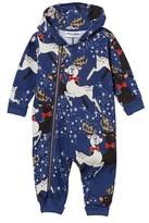 Mini Rodini Blue Reindeer Onesie
