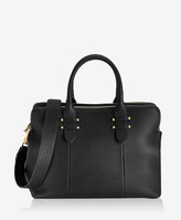 GiGi New York Parker Satchel, Black Pebble Grain