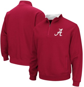 Colosseum Men's Crimson Alabama Crimson Tide Tortugas Logo Quarter-Zip Pullover Jacket