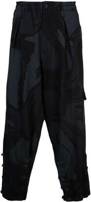 Yohji Yamamoto Colour Block Cargo Trousers