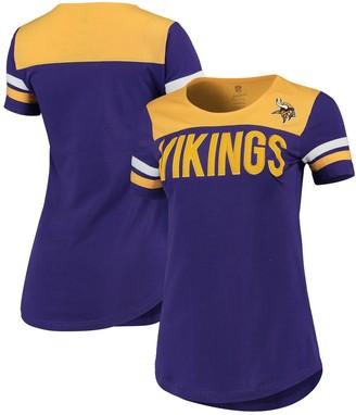 Outerstuff Juniors Purple/Gold Minnesota Vikings Receiver T-Shirt