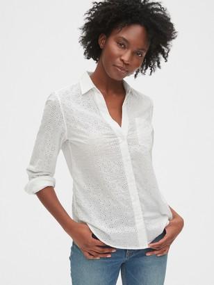 Gap Eyelet Perfect Shirt