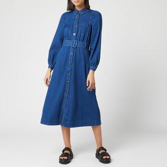Whistles Women's Denim Midi Shirt Dress
