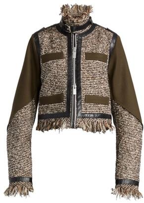 Sacai Moto Tweed Mix Jacket