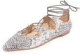 Loeffler Randall Ambra Lace Up Flats