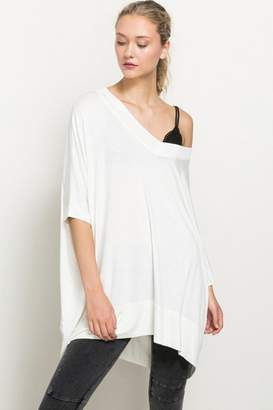 Hem & Thread Off The Shoulder High Low Hem Top