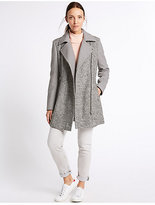 M&S Collection Wool Blend Boucle Coat