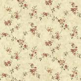 Chesapeake 8 in. x 10 in. Rose Valley Red Floral Trail Wallpaper Sample