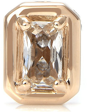 Stevie Wren 14k Gold White Topaz Emerald-Cut Charm