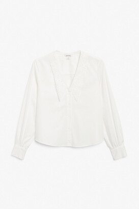 Monki Big collar blouse